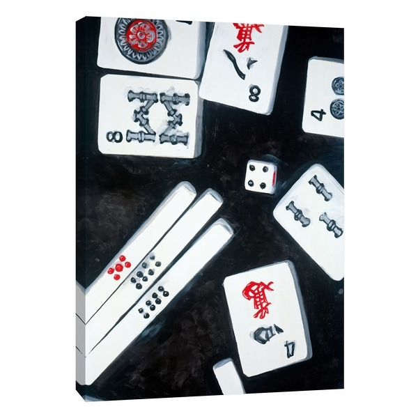 """PTM Images 9-108447 PTM Canvas Collection 10"""" x 8"""" - """"Mahjong 1"""" Giclee Sports and Hobbies Art Print on Canvas"""
