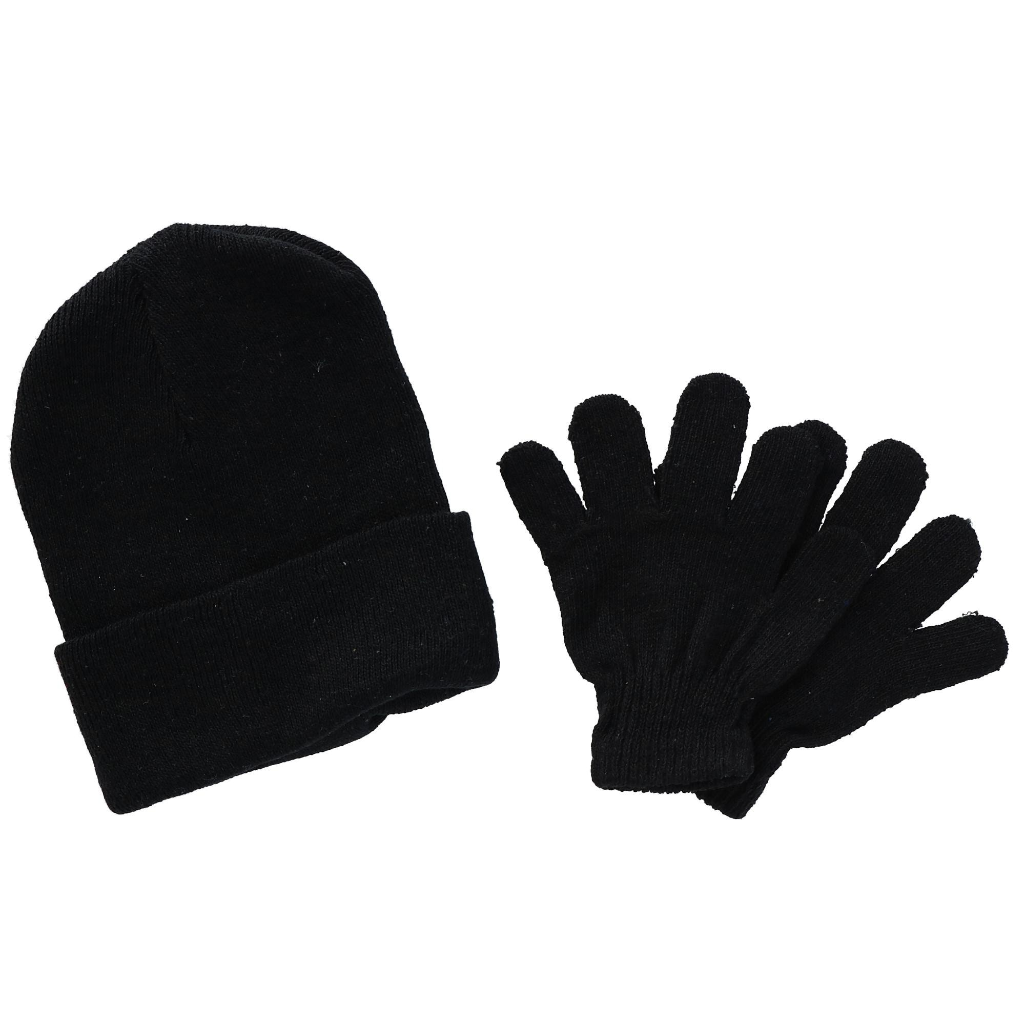 Black Polar Extreme Kids Basic Hat and Glove Set