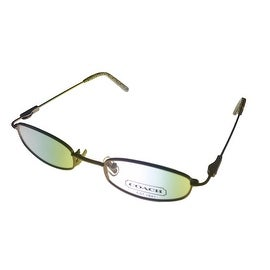 Coach Womens Opthalmic Eyeglass Frame Modified Rectangle Metal, Sand Jenna 112 - Medium