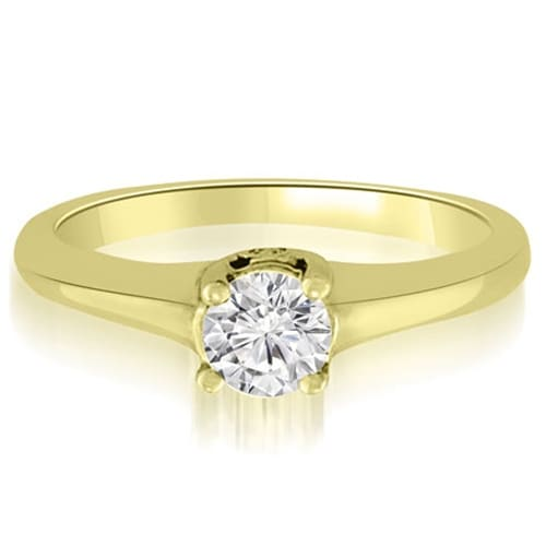 0.78 cttw. 14K Yellow Gold Round Cut Diamond Engagement Ring Solitaire