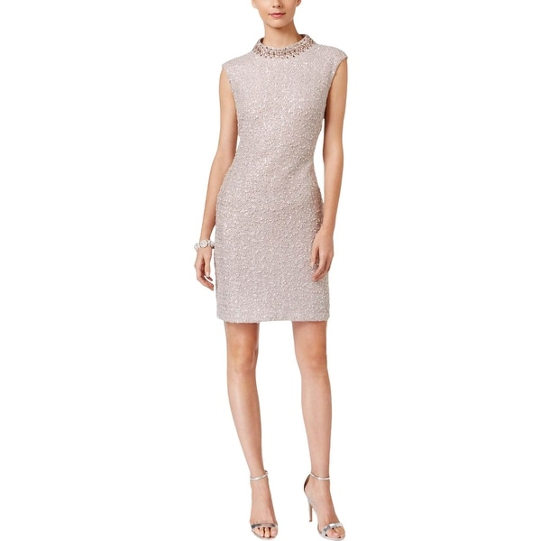 6eea913d242 Shop Vince Camuto Womens Cocktail Dress Beaded Boucle - Free Shipping On  Orders Over  45 - Overstock - 18530184