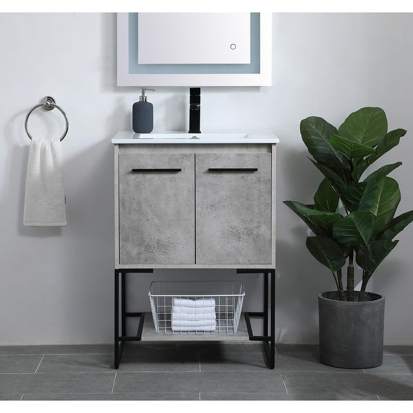 Woodland Modern Vanity Cabinet Set with Top. Opens flyout.
