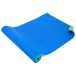 ProSource Original Yoga Pilates Mat ¼ Thick for Comfort Stability with Carrying Straps - blue/green - Blue