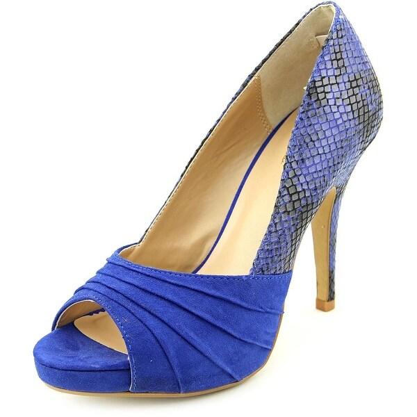 Thalia Sodi Marissa Open-Toe Canvas Heels