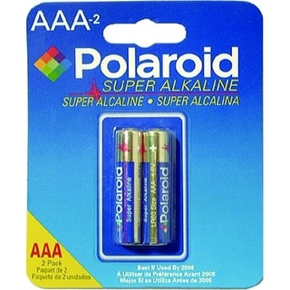 Polaroid 2 Pack AAA Alkaline Battery