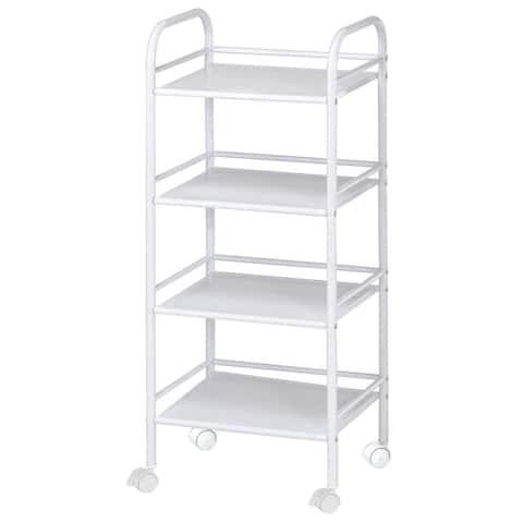 Alvin sh4wh storage cart 4-shelf white