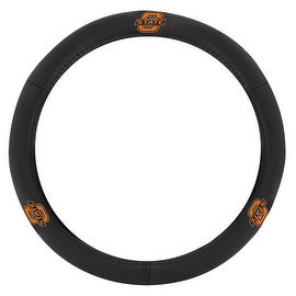 Pilot Automotive Black Leather Oklahoma State University Cowboy Car Auto Steering Wheel Cover
