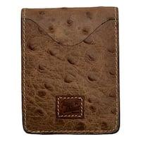 "Tony Lama Western Wallet Men Ostrich Print Basic Brown Barnyard - 3"" x 3 7/8"""