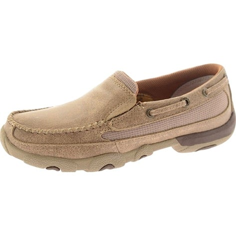 Twisted X Casual Shoes Womens Driving Moc Slip On Dusty Tan