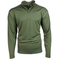 Page & Tuttle Mens Contrast Stitch Quarter Zip Layering Pullover Casual Outerwear
