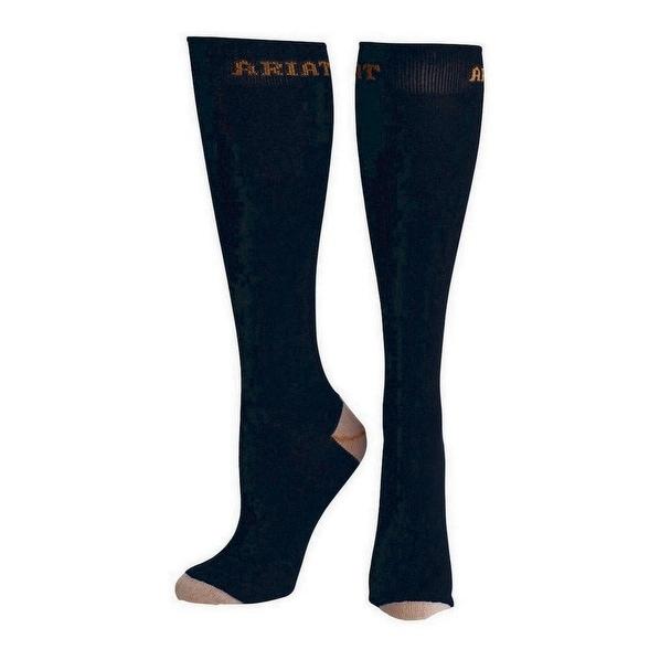 Ariat Socks Mens Tall Boot Equestrian Elastic Cuff Black