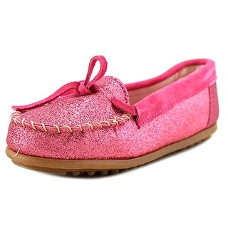 Minnetonka Glitter Moccasin Youth Synthetic Pink Moccasins