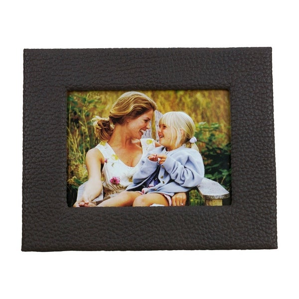 Pictronic Brown Faux Leather Illuminated 4x6 Picture Frame