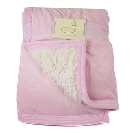 Beansprout Pink Micro Mink Reversing Sherpa Crib Throw Blanket