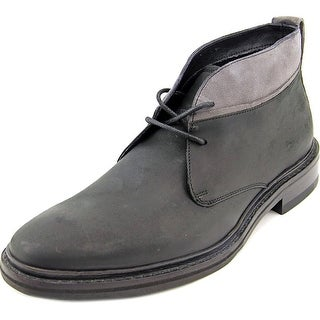 Cole Haan Williams Wlt Chka II Men Round Toe Leather Black Chukka Boot