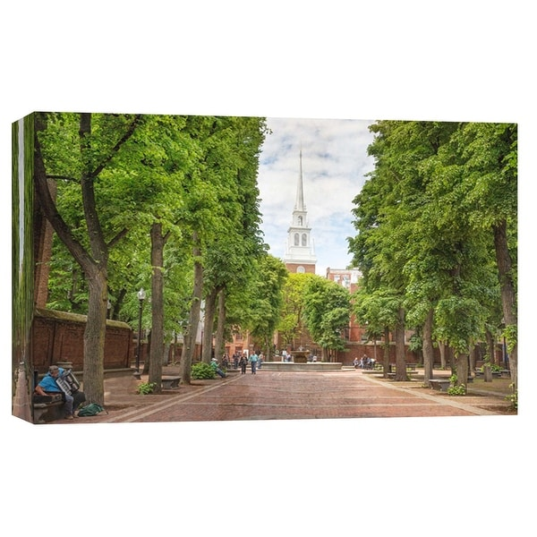 """PTM Images 9-103837 PTM Canvas Collection 8"""" x 10"""" - """"North Church"""" Giclee Buildings and Cityscape Art Print on Canvas"""