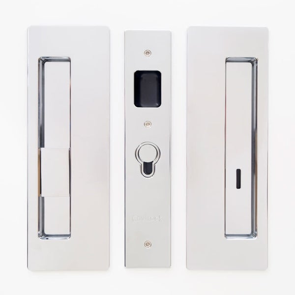 "Cavilock CL400B-PR-38-LH Magnetic Privacy Pocket Door Pull Set with LH Snib/RH Emergency for 1-3/8"" Thick Doors"