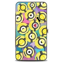 Minion Emojis Scattered Stars Blues Pinks Hinged Wallet - One Size Fits most