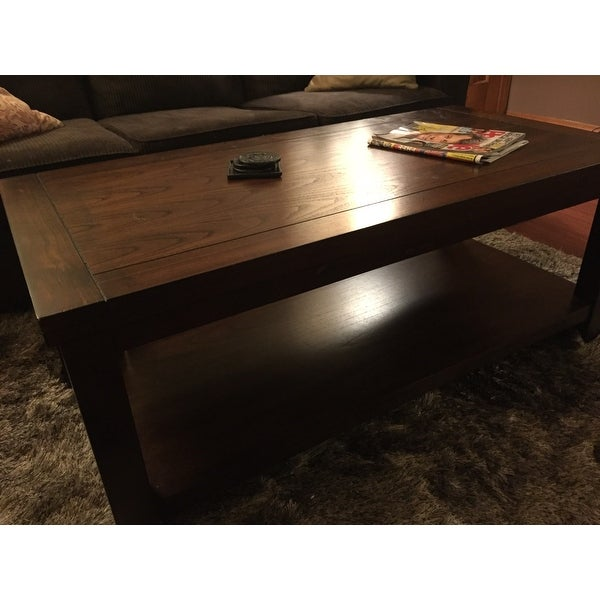 Shop Gracewood Hollow Stroud Dark Cherry Coffee Table   Free Shipping Today    Overstock.com   20000859