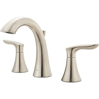 Pfister LG49-WR0 Weller 1.2 GPM Widespread Bathroom Faucet - Includes Metal Pop-Up Drain Assembly