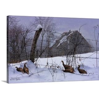 """Through the Snow"" Canvas Wall Art"