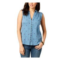 Lucky Brand Womens Casual Top Button-Down Day Time