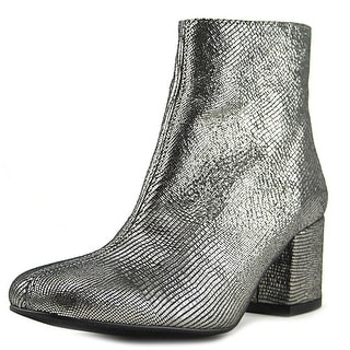 Sixtyseven 78337 Women Square Toe Leather Silver Ankle Boot