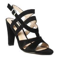 Steve Madden Womens Cassandra Black Open Toe Heels Size 10