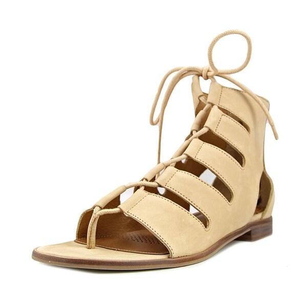 Corso Como Sunrise Women Open Toe Leather Nude Gladiator Sandal
