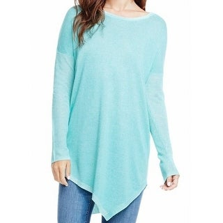Two By Vince Camuto NEW Blue Large L Asymmetrical Crewneck Swearter