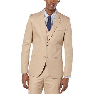 Perry Ellis Mens Lumark Two-Button Suit Jacket Slim Fit Linen Blend