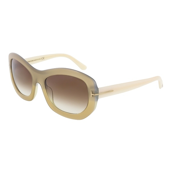 Tom Ford FT0382/S 34F Amy Beige Pearl Rectangle Sunglasses - 57-19-140