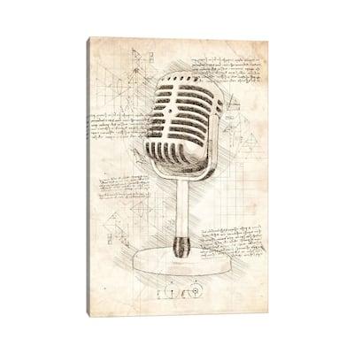 "iCanvas ""Microphone"" by Cornel Vlad Canvas Print"