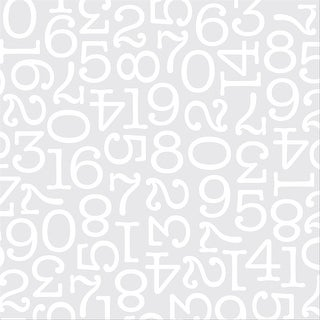 """Diy Shop 4 Specialty Cardstock 12""""X12""""-White Numbers On Acetate"""