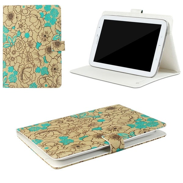 "JAVOedge Poppy Universal 7-8"" Book Case for the iPad Mini, Samsung Tab, Nexus 5, Nook HD (Turquoise)"