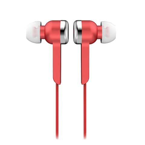 Supersonic Digital Stereo Earphones-Red