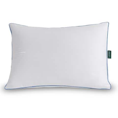 Lauren Ralph Lauren Lawton Medium Density Pillow - White/Blue Cord