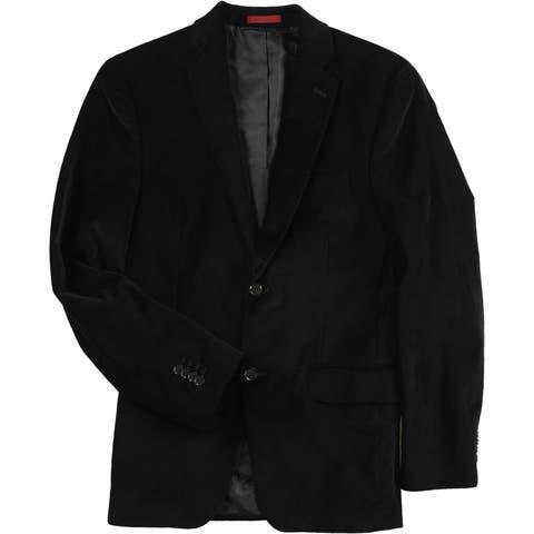 Alfani Mens Velvet Two Button Blazer Jacket - 36 Regular