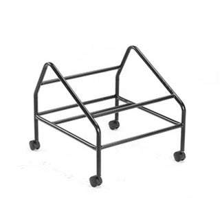 Black Polished Steel Dolly For Stack Chairs