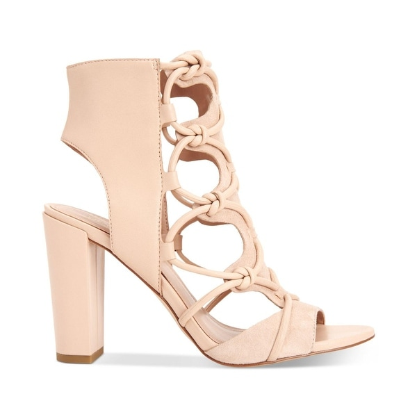 BCBGeneration Womens Fay Leather Open Toe Special Occasion Ankle Strap Sandals