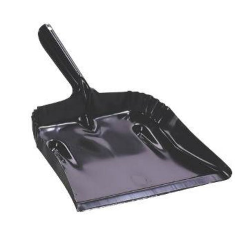 "Fulton 182B-20 Steel Dustpan, Black, 7-1/2"" x 12-3/4"""