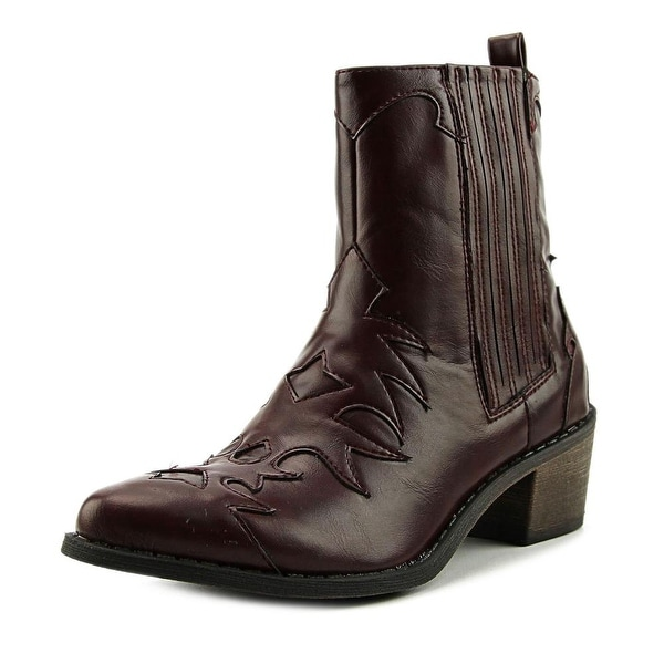 Coconuts By Matisse Cassidy Women Pointed Toe Leather Brown Western Boot
