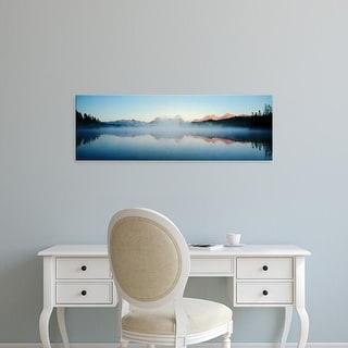 Easy Art Prints Panoramic Images 'Little Redfish Lake, Mountains, Sawtooth National Recreation Area, Idaho' Canvas Art