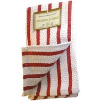 Harold Import 2Pc Red Strp Dishcloths 02623RD Unit: EACH