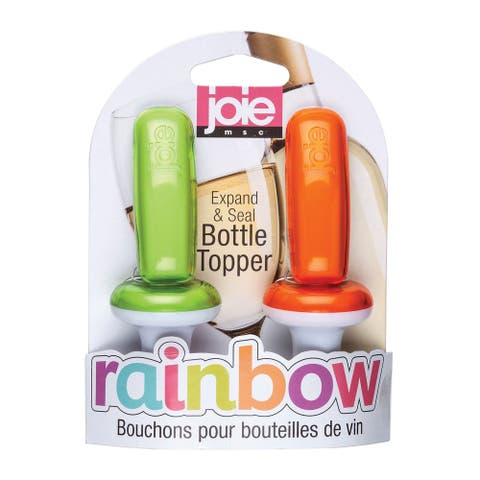 Joie 2pk Rainbow Expand & Seal Bottle Toppers Wine Preserver - Random Colors