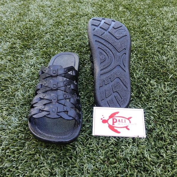 Pali Hawaii TIA BLACK Sandals with Certificate of Authenticity
