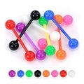 "Acrylic Flexible Barbell with Solid UV Ball - 14 GA - 5/8"" Long (Sold Ind.) - Thumbnail 0"