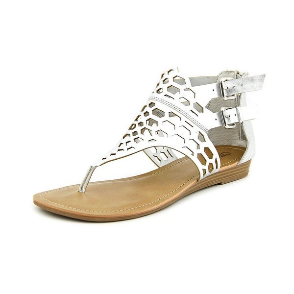 Carlos by Carlos Santana Sydney Women Open Toe Synthetic Silver Thong Sandal