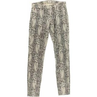 Hudson Womens Snake Print Mid-Rise Skinny Jeans - 28