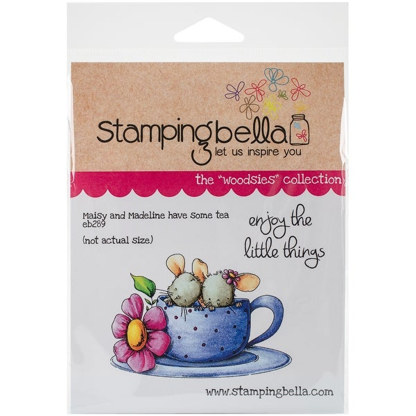 """Stamping Bella Cling Stamp 6.5""""X4.5""""-Maisy & Madeline Have Some Tea"""